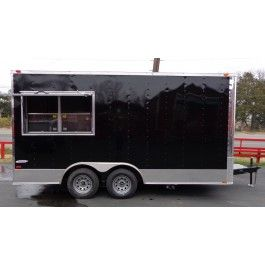 Concession Trailer 8 5 X16 Black Food Event Catering Vending