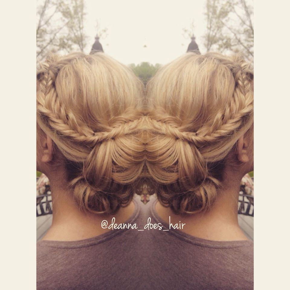 Prom up do from @deanna_does_hair please share ️ | Hair ...