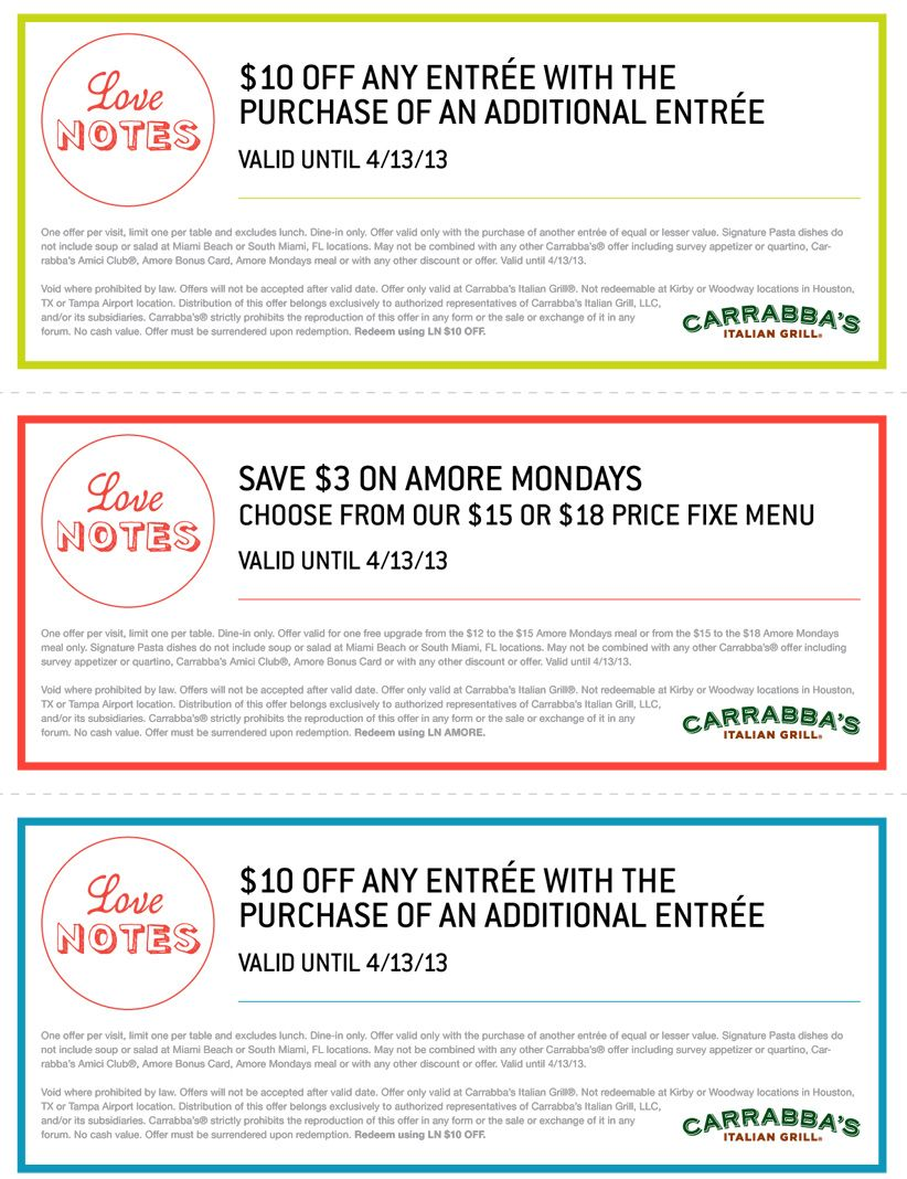 photograph relating to Carrabba's Coupons Printable named Pin upon Carrabbas italian grill coupon codes