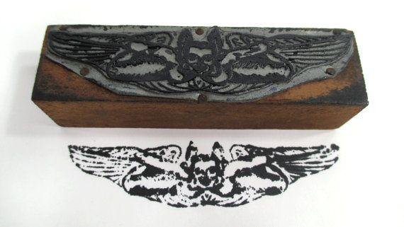 Vintage Winged Bat Woman Printers Press by UrbanRenewalDesigns, $8.00