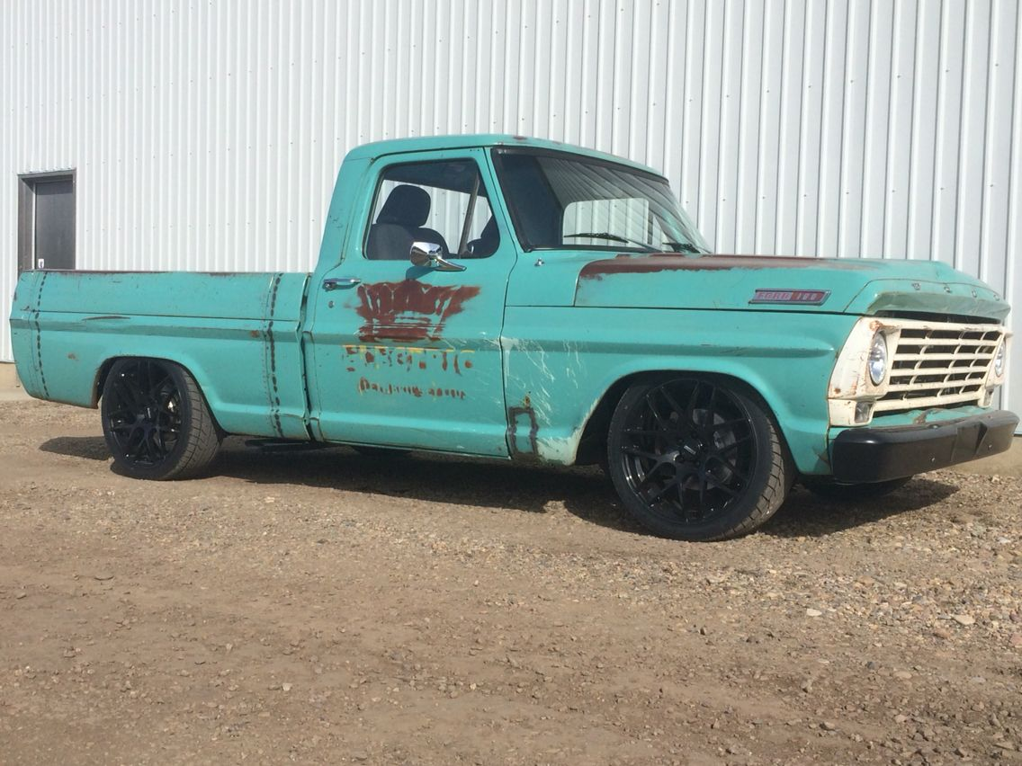 1967 Ford F100 46l Swap From 03 Crown Vic Shop Truck Pinterest 1969 Short Bed