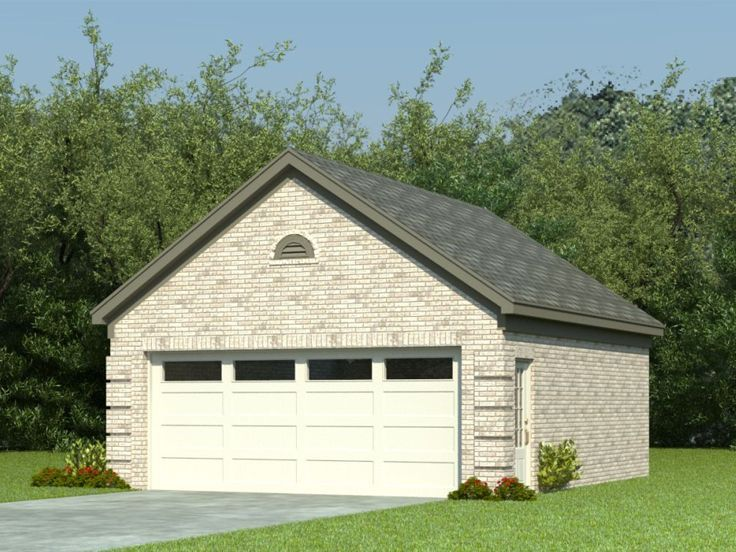 006g 0024 Detached 2 Car Garage Plan With Traditional Styling Garage Door Design 2 Car Garage Plans Garage Design