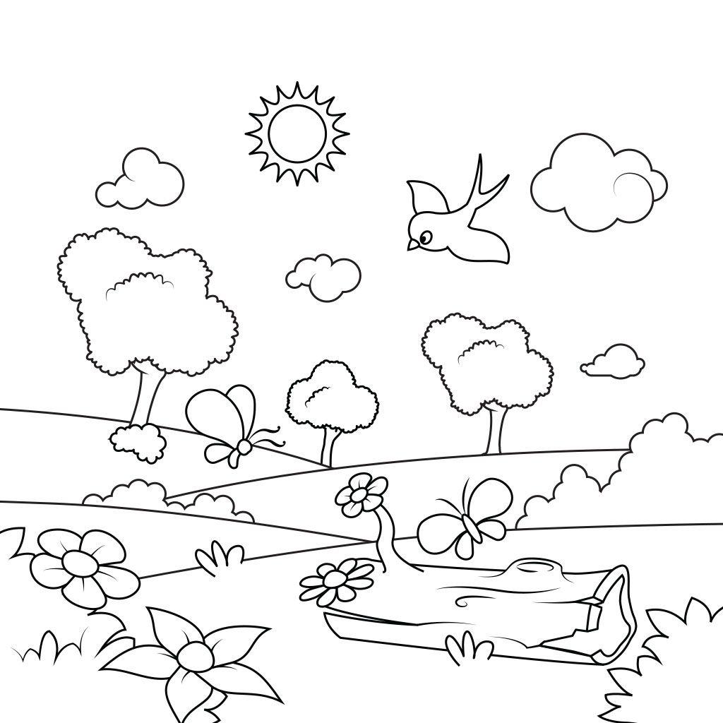 Spring Coloring Pages Spring Coloring Pages Coloring Pages Coloring Pages For Kids