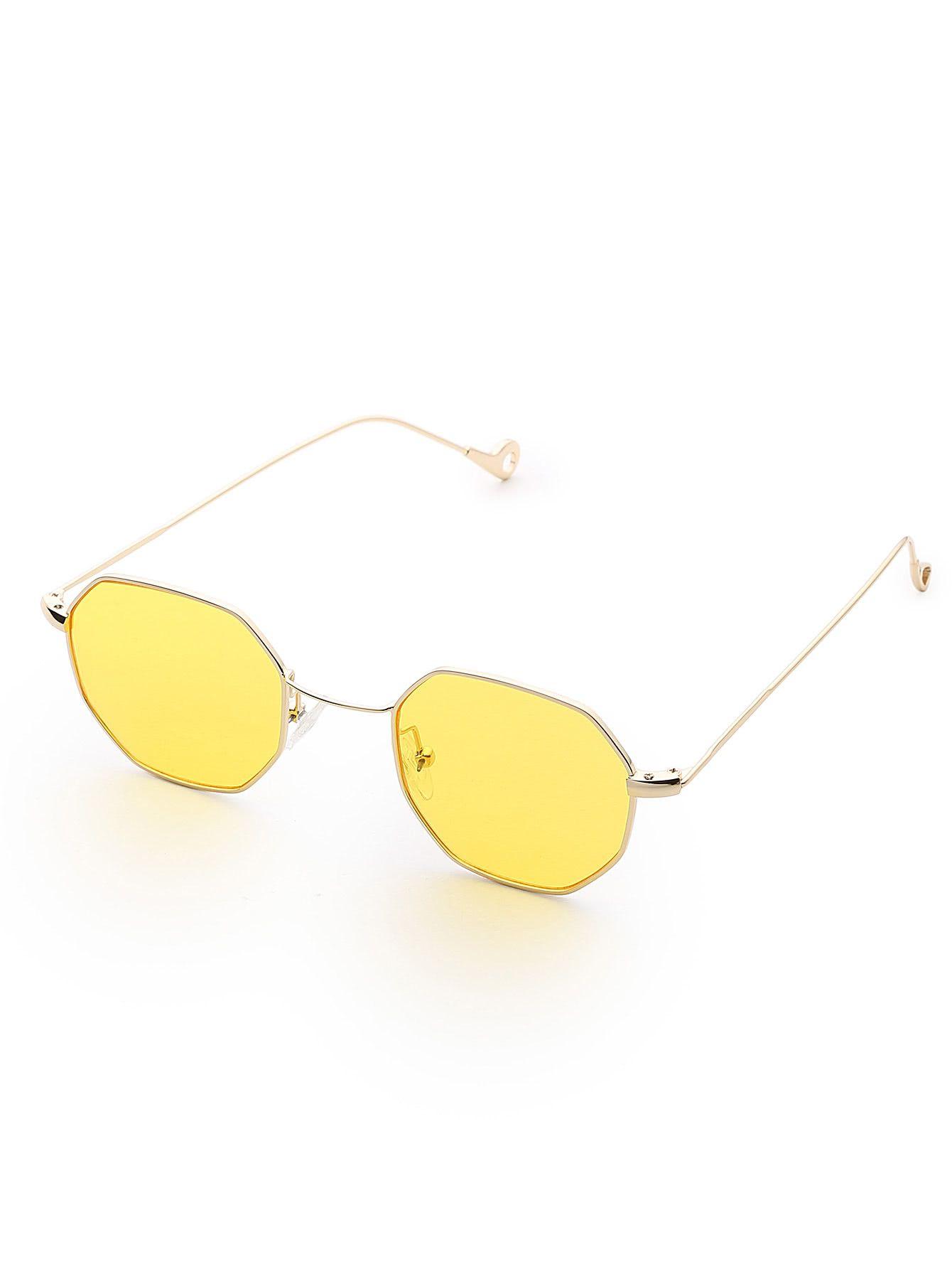 6e2447ee78 Polygon Flat Lens Sunglasses
