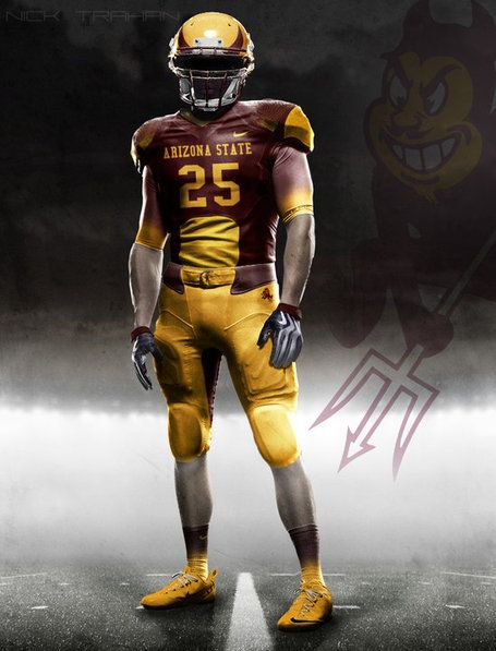 Arizona State Uniforms Asu Football Football Ads Senior Football