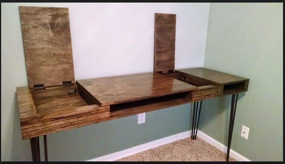 Homemade Desk Idea Homemade Desk Homemade Modern Plywood Desk
