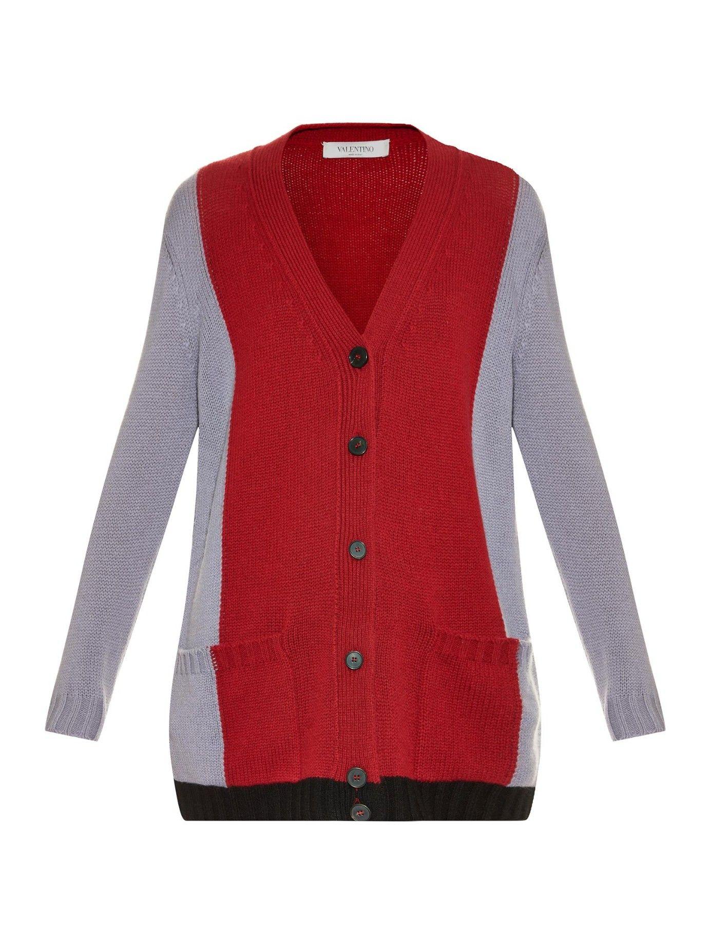 Tri-colour cashmere cardigan | Valentino | MATCHESFASHION.COM ...