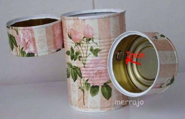 Latas recicladas | Aprender manualidades es facilisimo.com http://manualidades.facilisimo.com/blogs/general/latas-recicladas_1498267.html