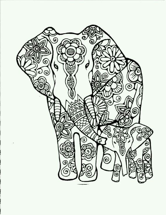 Elephant Elephant Coloring Page Coloring Books Coloring Pages