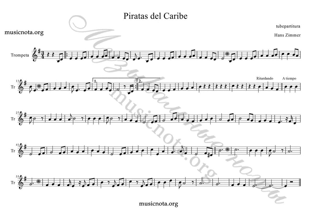 Картинки по запросу ноты для скрипки пираты карибского ...