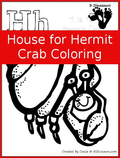 Free House For Hermit Crab Coloring Preschool Learning
