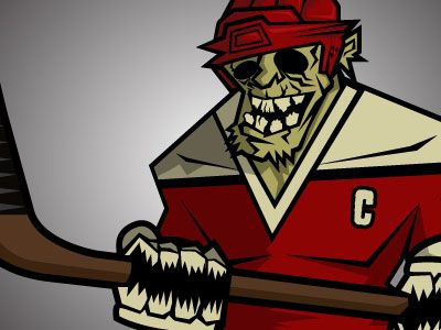 Dribbble Zombie Hockey Player By Andy Hall