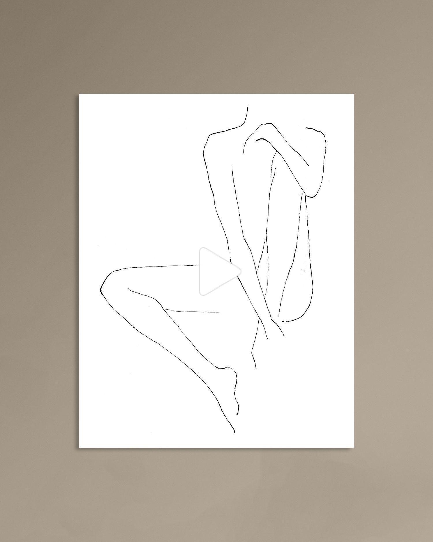 Minimalist Woman Printable Illustration Abstract Color Block Art Natural Warm Color Art Modern In 2020 Line Art Drawings Minimalist Women Modern Art Prints
