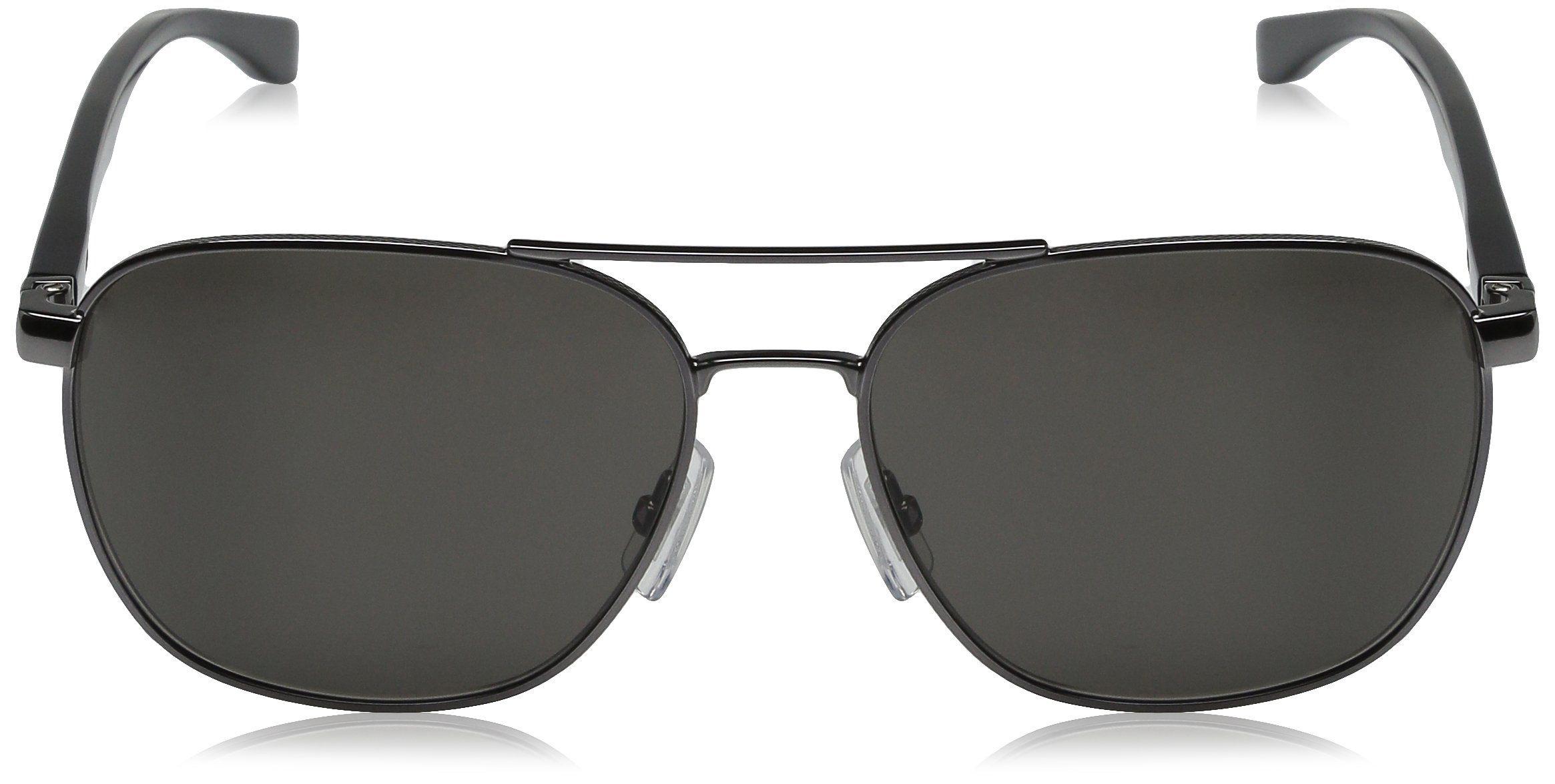 dc632b17c9 BOSS by Hugo Boss Mens B0701S Aviator Sunglasses Dark Ruthenium Black Brown  Gray 57 mm