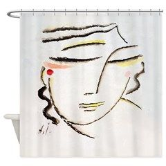 Inclined head by Alexej von Jawlensky -- See More Here: http://www.cafepress.com/masterpieces1/10512525?aid=113483648 #showerCurtain #bathDecor #cool