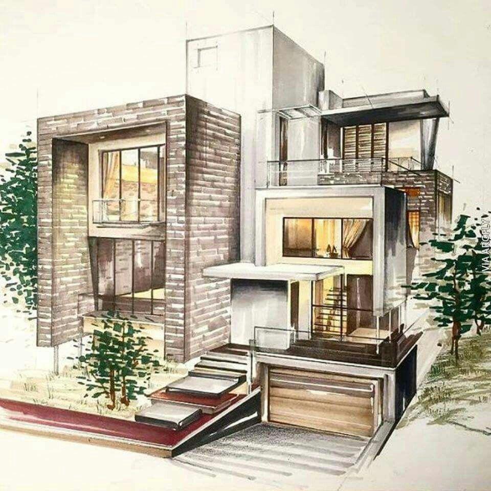 Epingle Par Axel Imouche Sur Architect Sketches Croquis Maison Dessin Architecte Architecture