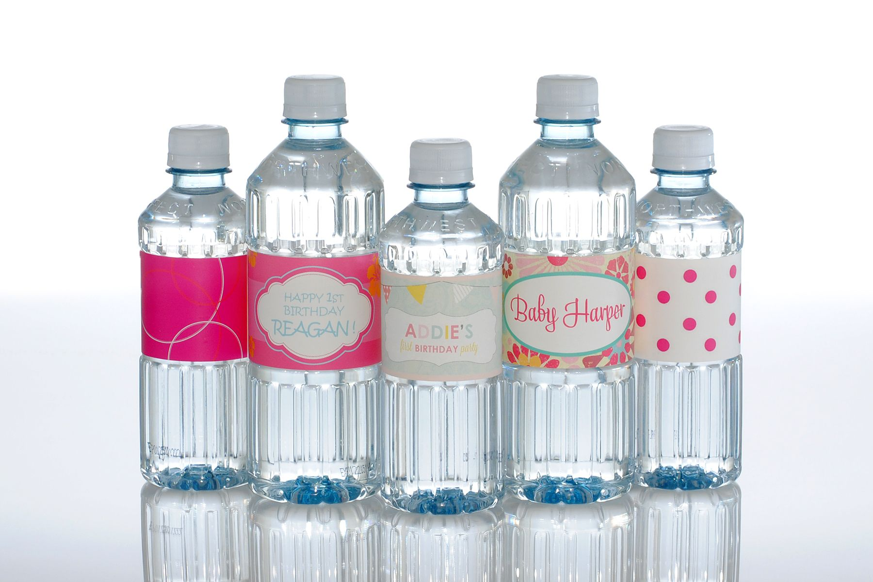 Birthday bottled water create your own design with text
