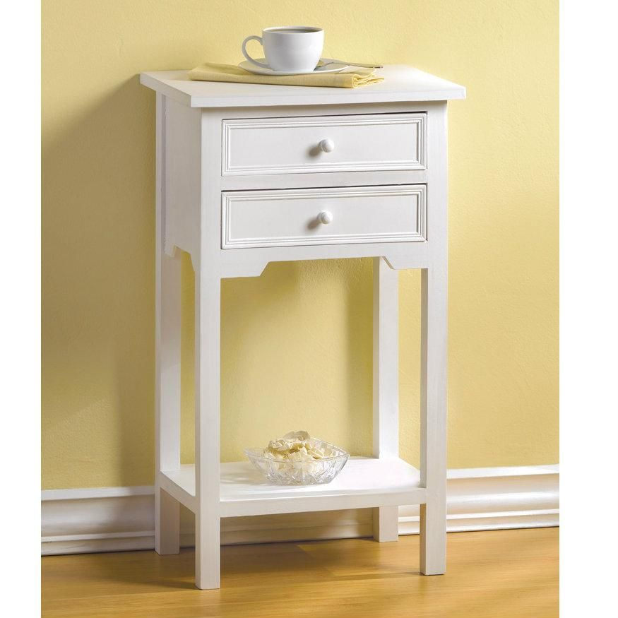 Classic Side Table White In 2021 Small White Bedside Table Small Bedside Table Classic Side Table Telephone table with drawers