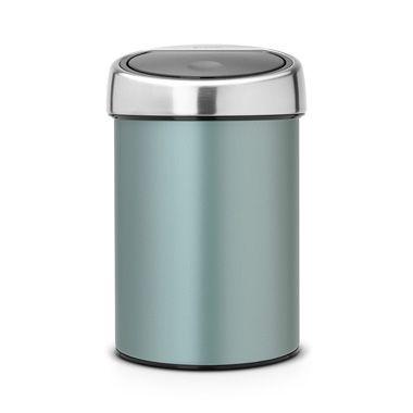 Touch Bin Blokker.Brabantia Touch Bin 3 L Metallic Mint Blokker Design Touch