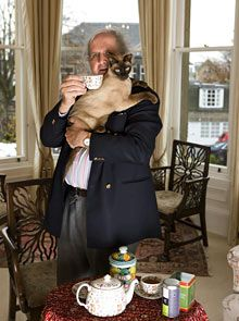 Alexander McCall Smith, bestselling author of the No. 1 Ladies Detective Agency series, takes #tea at home with a friend. Photo by Murdoch MacLeod