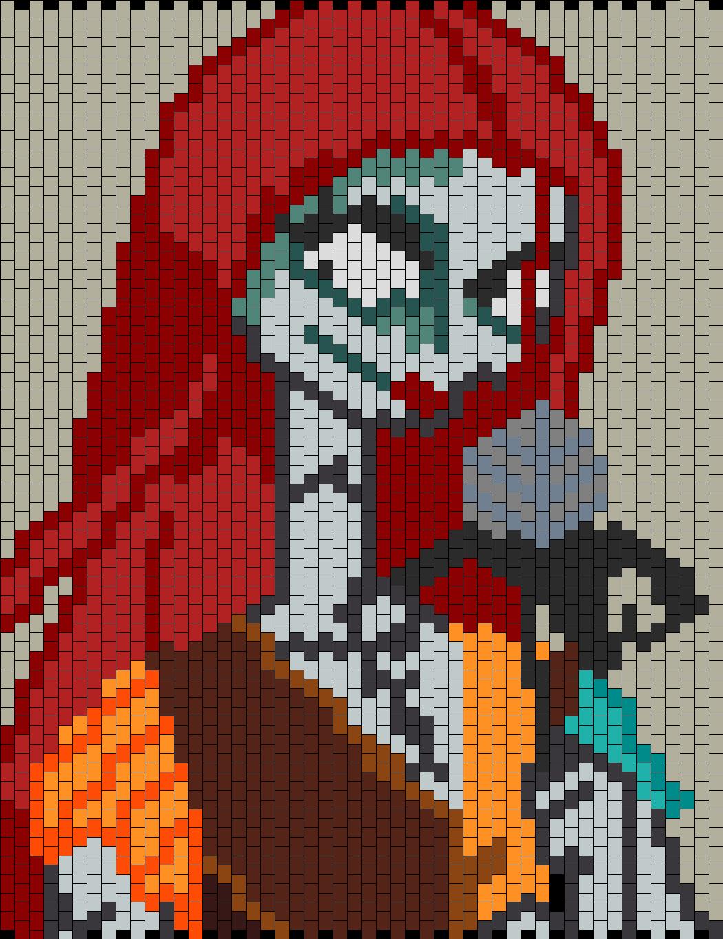 Nightmare Before Christmas Sally N Flower bead pattern | Pixel art ...