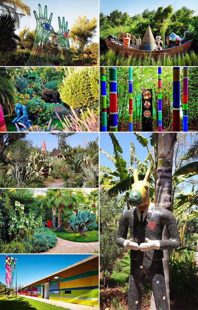 andr heller anima marrakech art and beautiful garden explosion of colors arte verde. Black Bedroom Furniture Sets. Home Design Ideas
