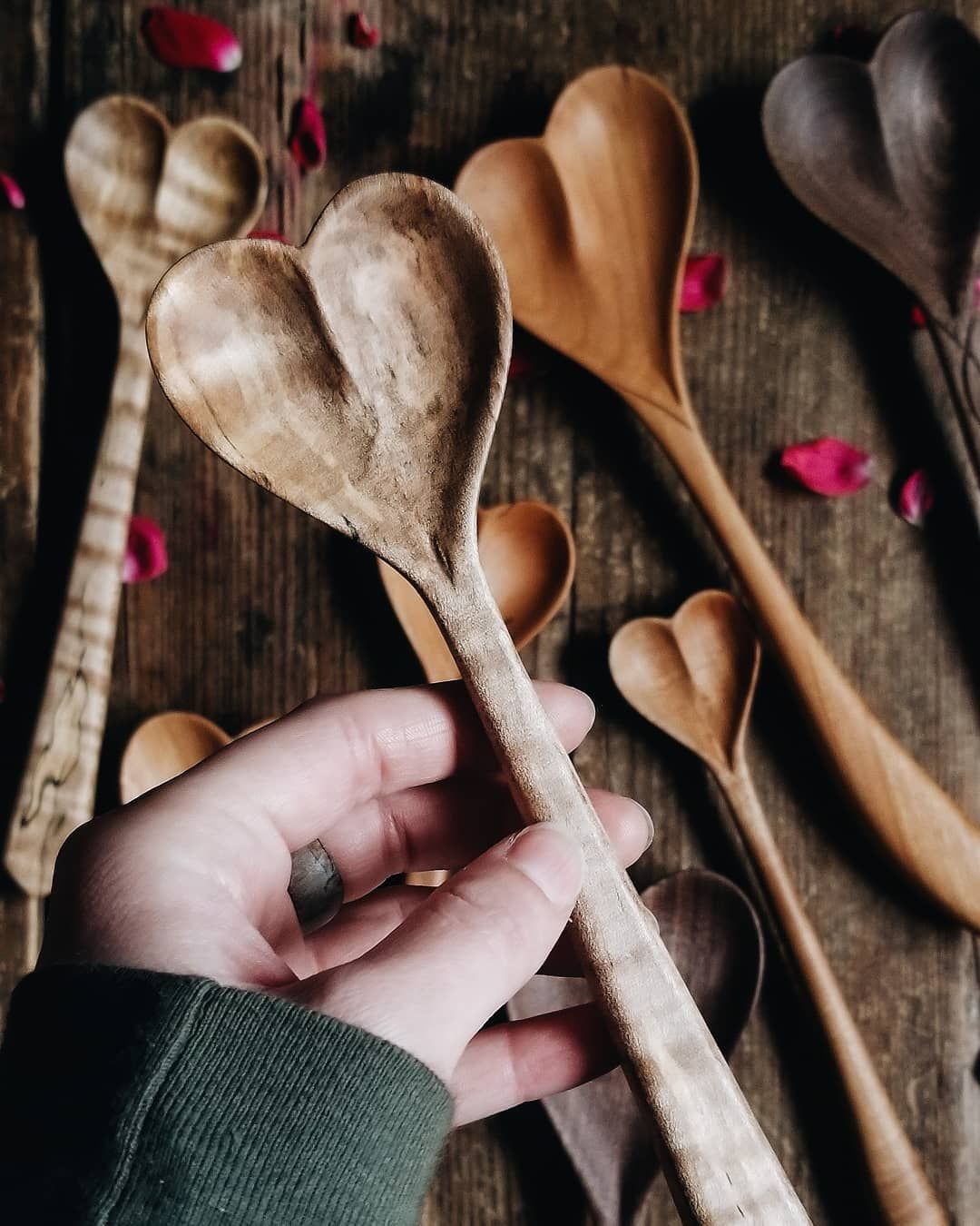 Hand Carved Wooden Dreamware Heart Spoon Made By The Polder Family Of Old World Kitchen By Polder S In 2020 Old World Kitchens Old World Market Wooden Kitchen Utensils