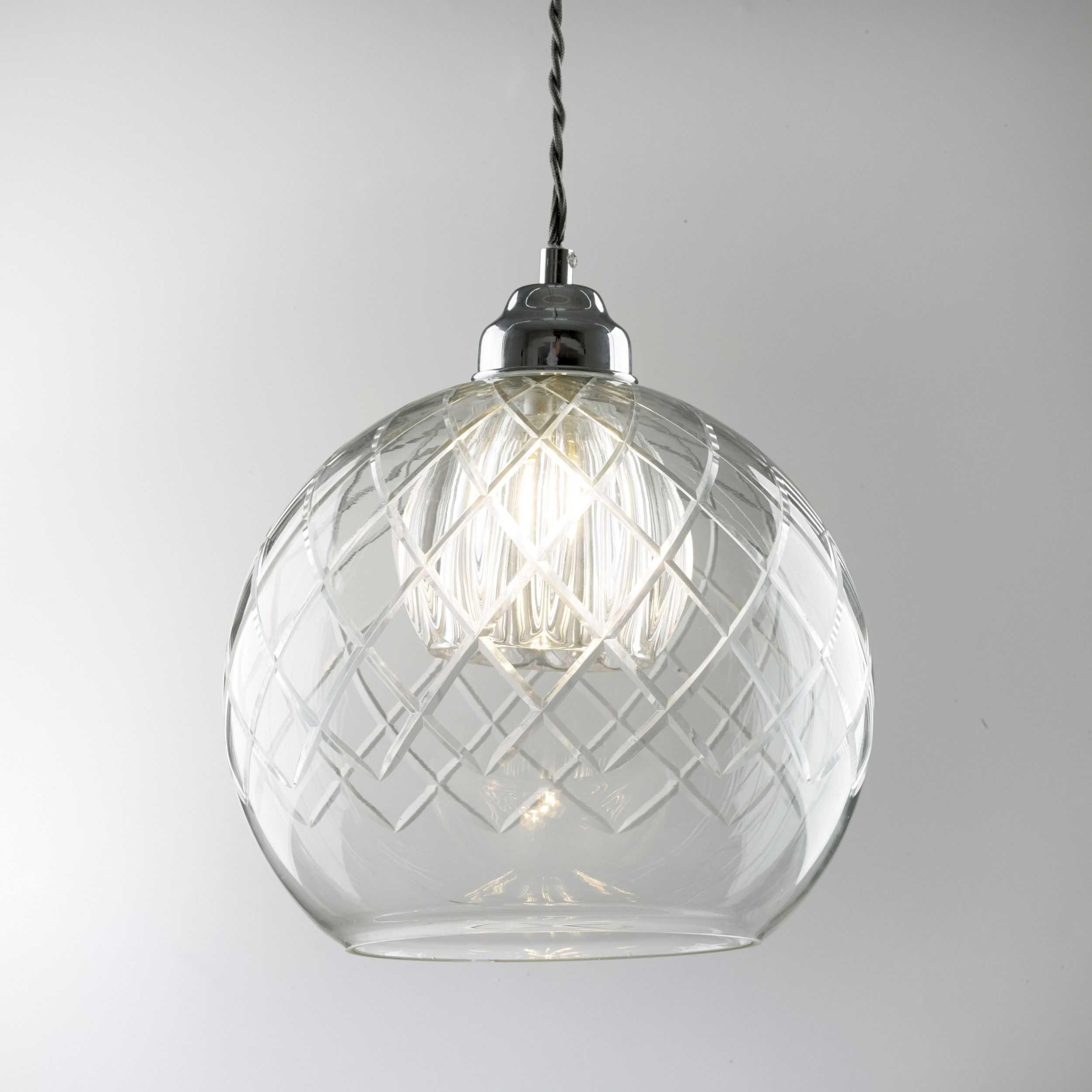 Gabby Glass Ceiling Pendant Light This stunning glass ceiling pendant light  features a cut-glass