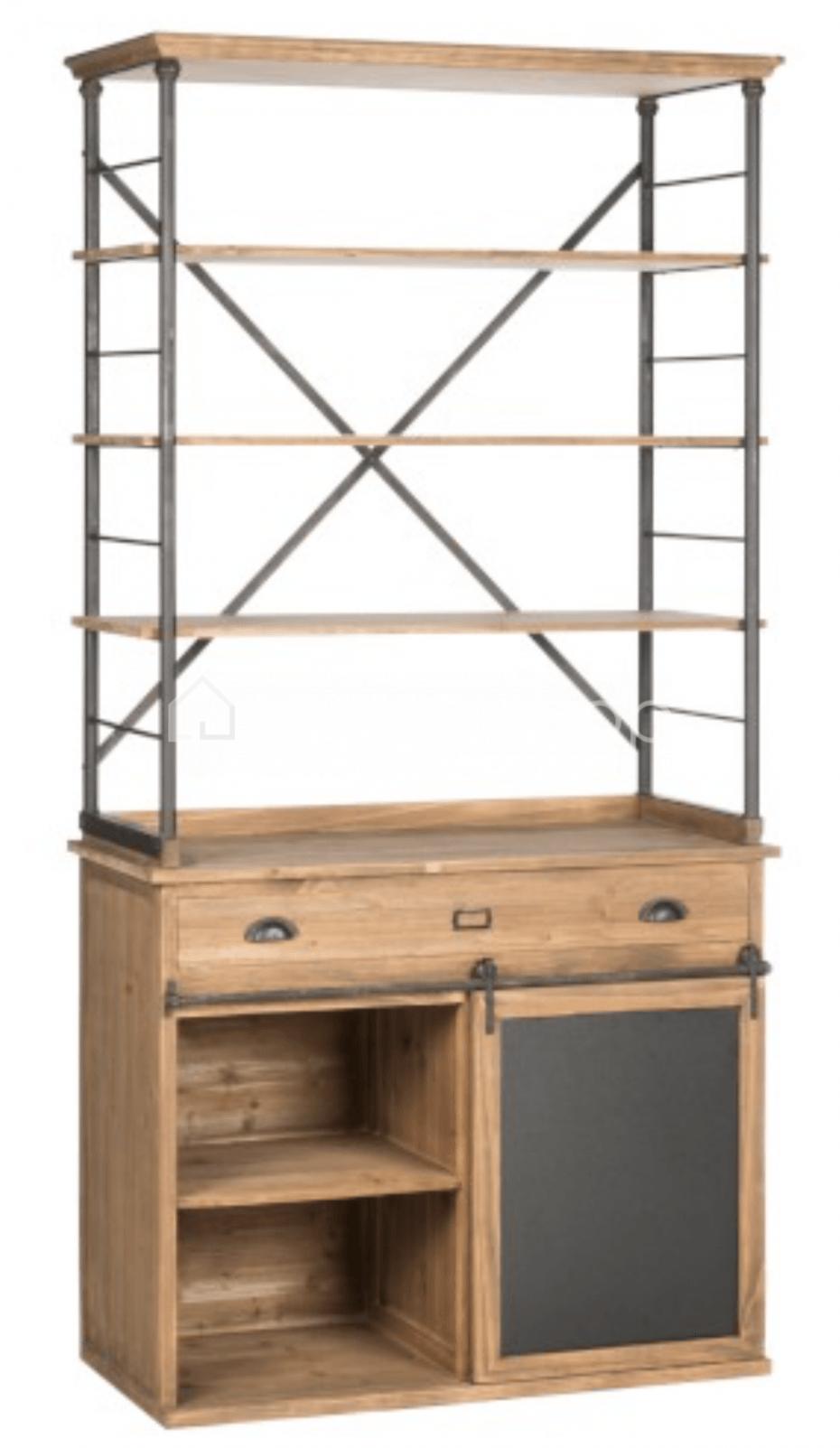 Meuble De Rangement Etagere Ouvert Loft Armoire Rack Industriel J Line Boutique En Ligne Living Shop Fr Mobilier De Salon Meuble Rangement Etageres Ouvertes