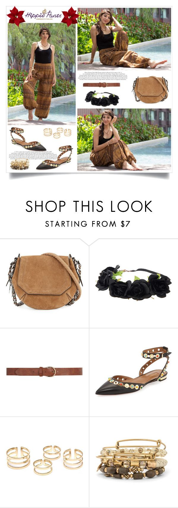 """""""Hippie!"""" by sabinakopic ❤ liked on Polyvore featuring rag & bone, Dorothy Perkins, Aquazzura, Alex and Ani, women's clothing, women, female, woman, misses and juniors"""