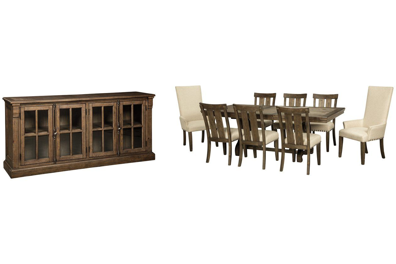 Wendota Dining Table And 8 Chairs With Storage Ashley Furniture