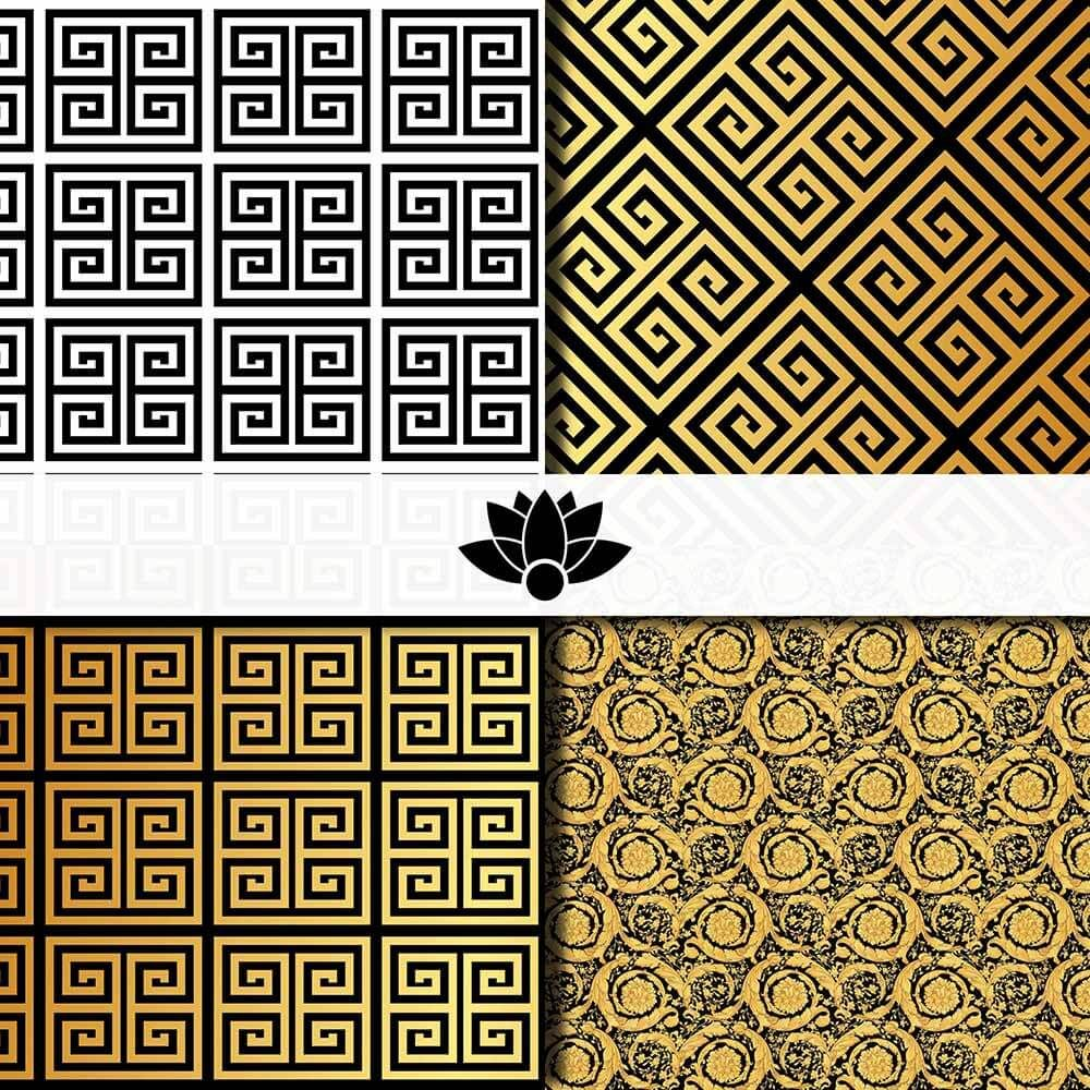 Versace Pattern Versace pattern, Textures patterns