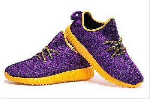 Womens Adidas Yeezy Boost 350 Low Kanye West Purple Yellow