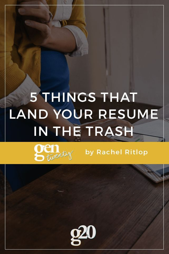 5 Things That Land Your Resume in the Trash Pinterest Job interviews - 5 resume tips
