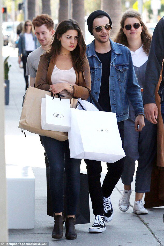 Louis with his gf Danielle Campbell I KNEW HER BEFORE SHE