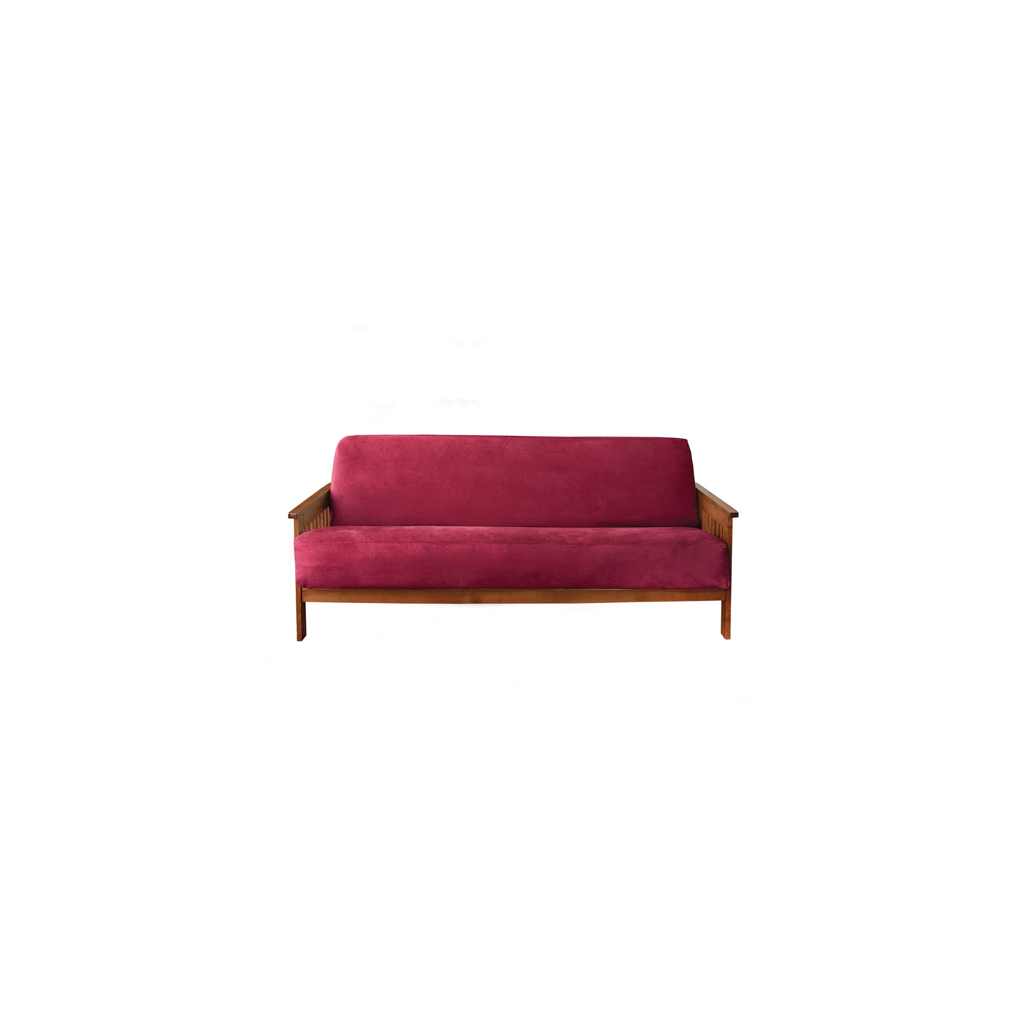 Soft Suede Futon Cover Burgundy Red Sure Fit
