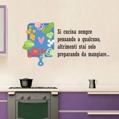 Si Cucina Sempre Pensando a Qualcuno Wall Sticker Adesivo da Muro ...