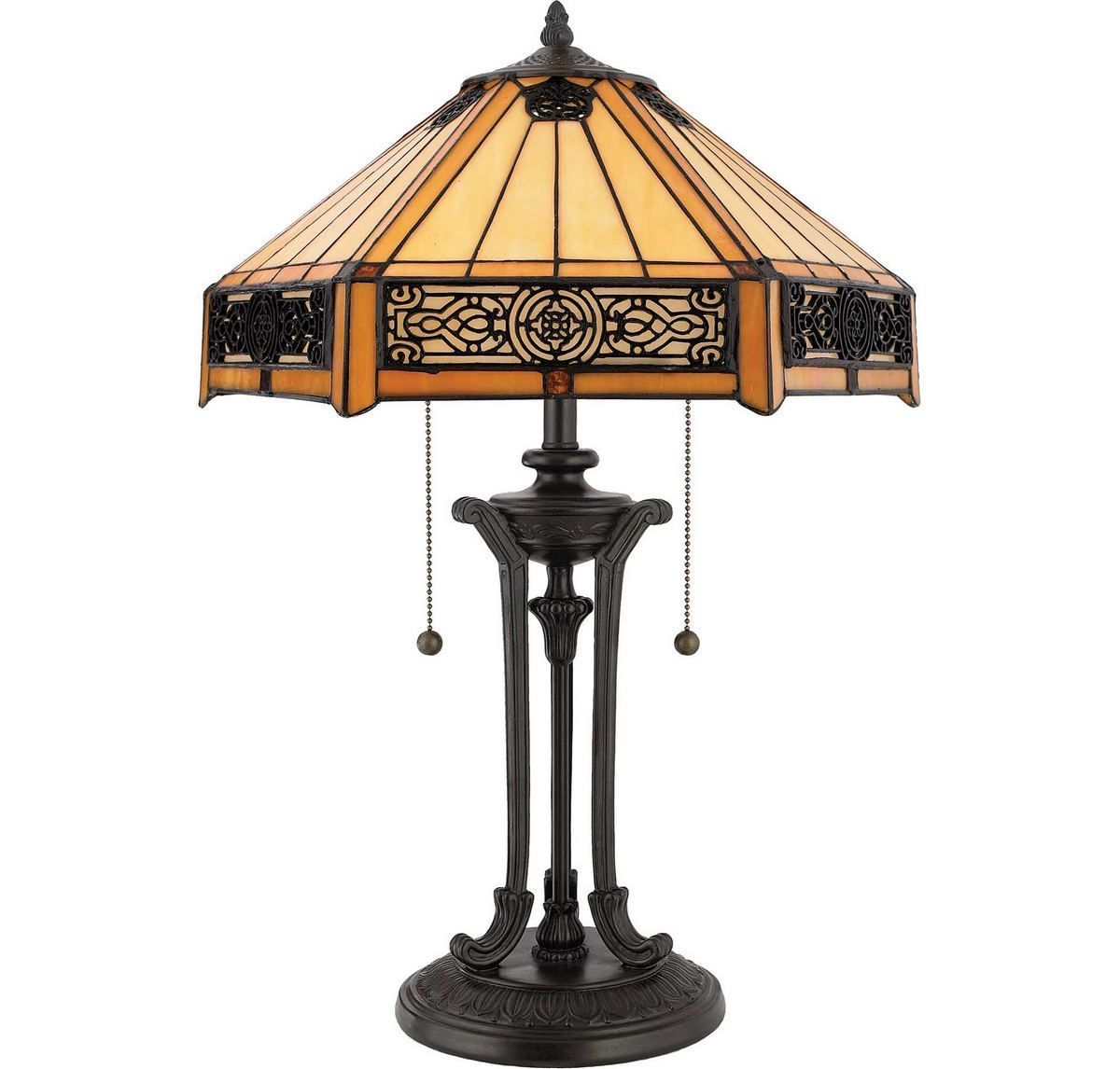 Quoizel Indus 2 Light 23 Quot Table Lamp In Vintage Bronze In