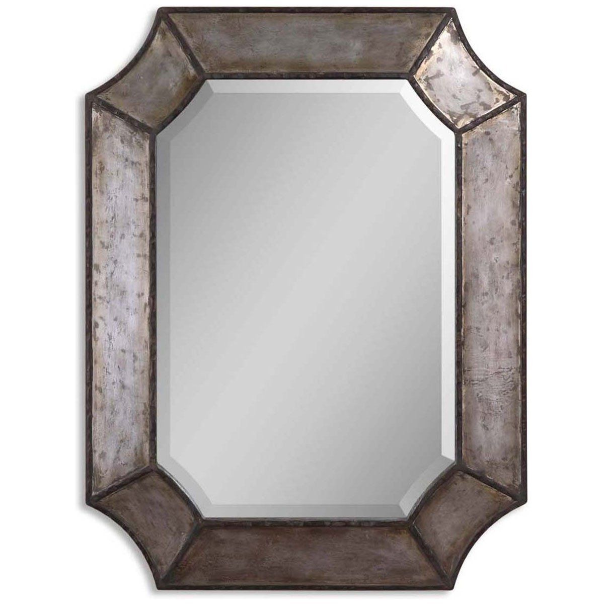 Uttermost Elliot Distressed Aluminum Mirror 13628 B Mirror Rustic Frames Mirrors Wayfair