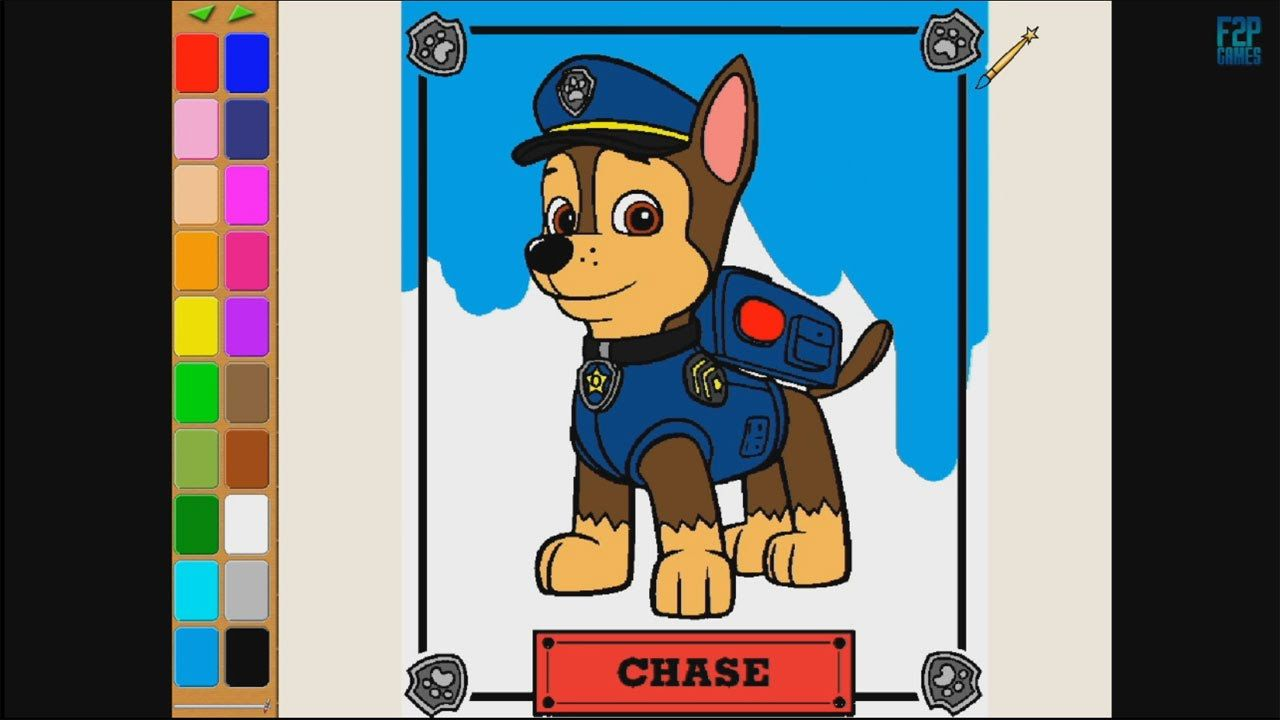 Paw Patrol Chase Coloring Pages For Kids Coloring Games Paw Patrol Coloring Book Part 2 Paw Patrol Coloring Coloring Books Coloring Games For Kids