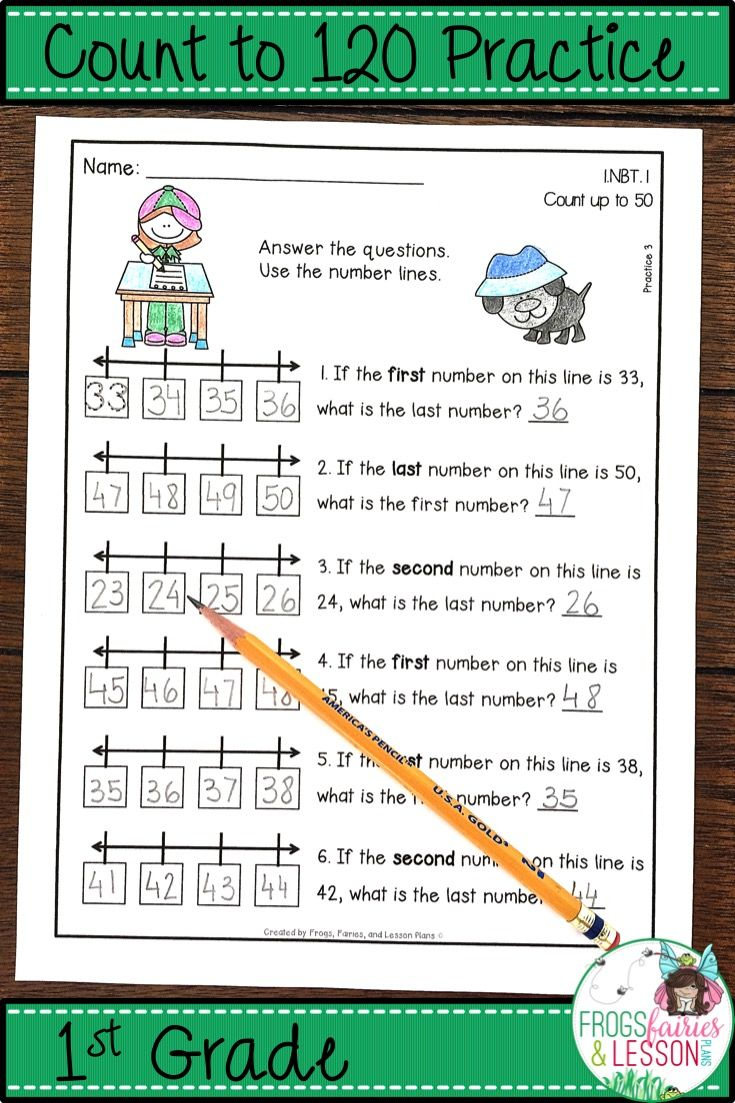 1st Grade Math practice for Number Lines, Hundreds Charts, Object Counting,  Word Problem Solving, and Assessments. No fluff, no prep, printer friendly,  ...