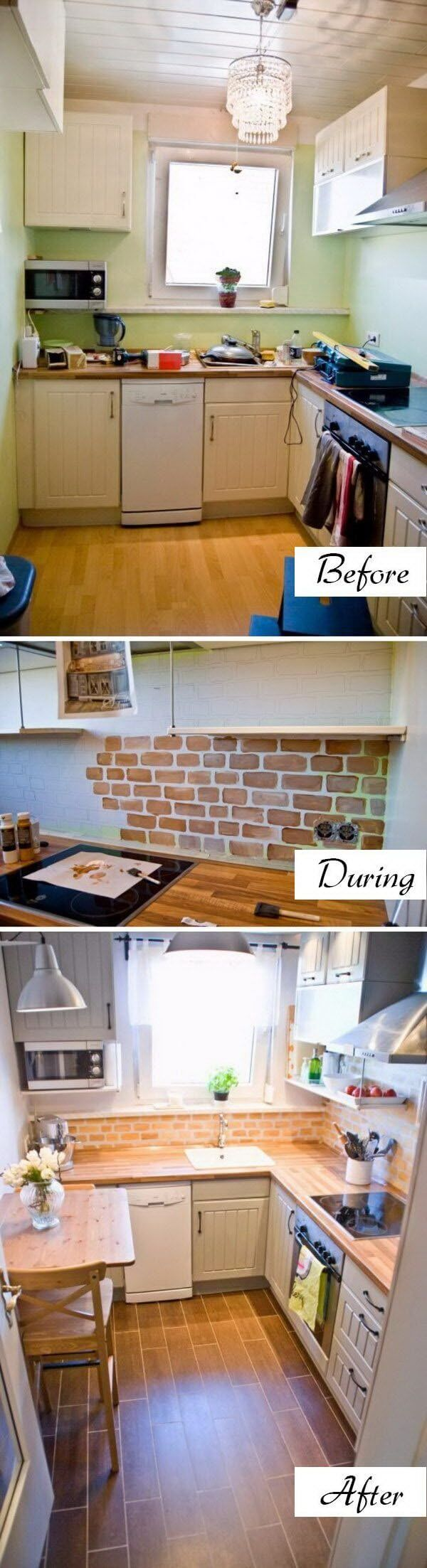 25+ Amazing Before and After: Budget Friendly Kitchen Makeover Ideas ...