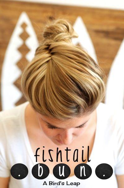 Fishtail Bun #hair #tutorial | A Bird's Leap