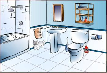Clean Bathroom Clipart