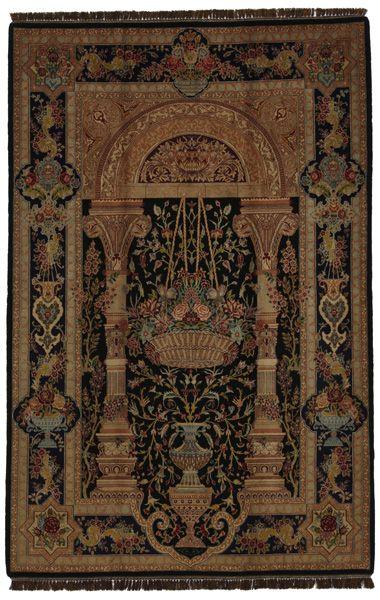 """Isfahan Alfombra Persa 237x155 de Primera Calidad Codigo de la Alfombra: spc037-790 Tamaño: 237x155 cm (7'9""""x5'1"""") Espesor: Corto (<5 mm) Antigüedad: 0-20 (Nueva) También conocida como: Esfahan, Ispahan, Espahan Origen: Iran/Persia Pelo - Urdimbre: Lana con Seda en Seda Densidad de Nudos: aproximadamente 1.000.000 nudos por m²"""