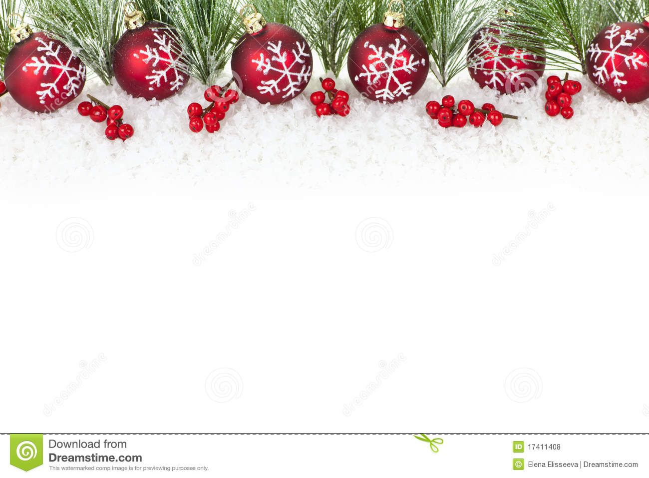 Christmas Border With Red Ornaments  Download From Over 28 Million High  Quality Stock Photos,
