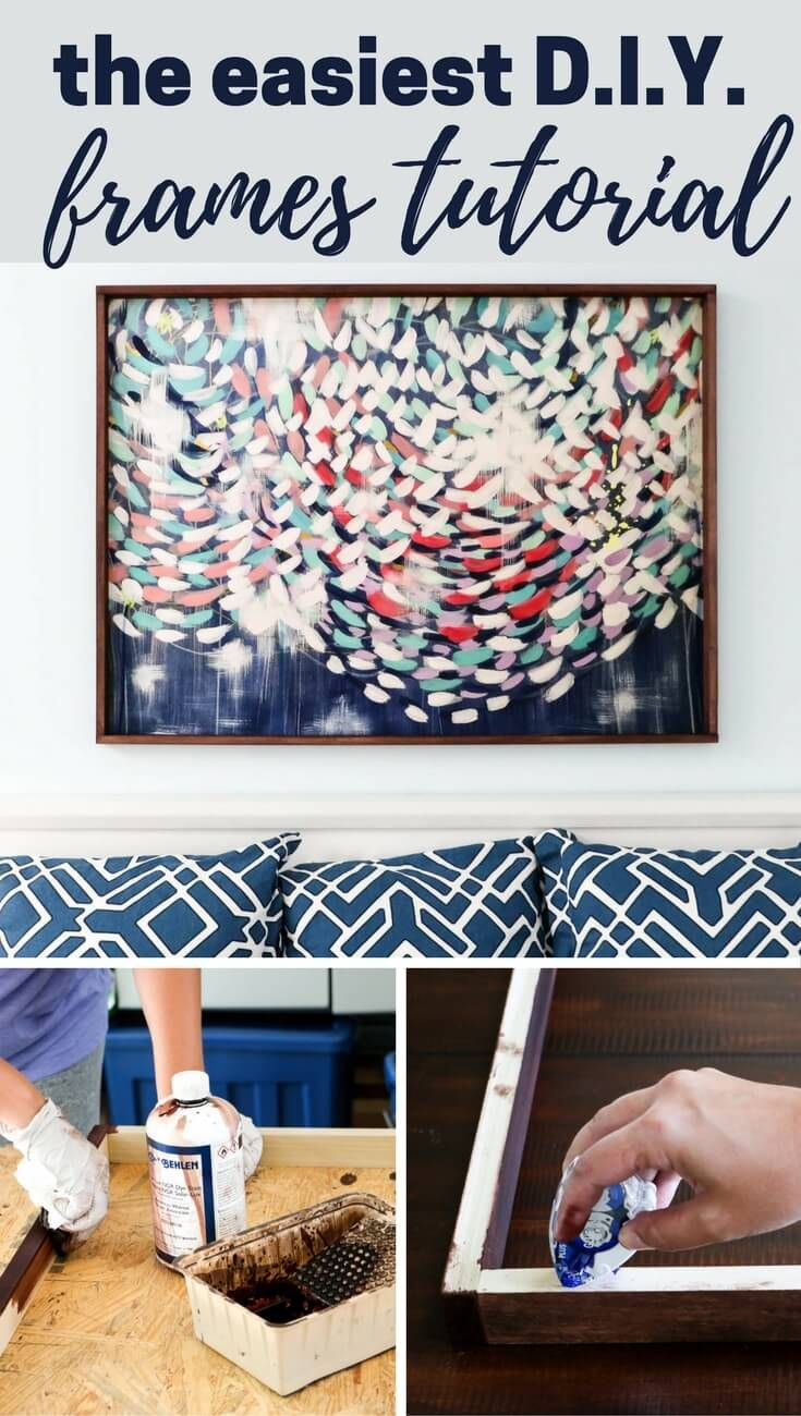How to Make a Picture Frame for LARGE Prints | Cuadro y Decoración