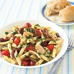 MyRecipes recommends that you make this Niçoise Pasta Salad recipe from All You