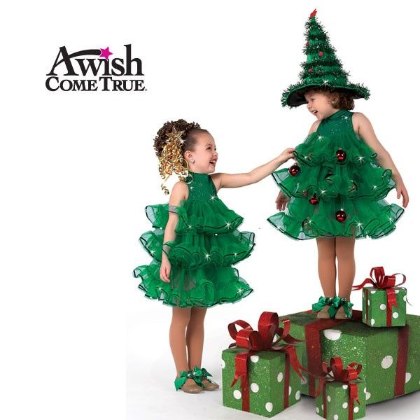 Sequin Dot Lycra Leotard With Keyhole Back Attached Three Tier Net And Organza Ruffles Included Hair Christmas Tree Costume Tree Costume Christmas Costumes