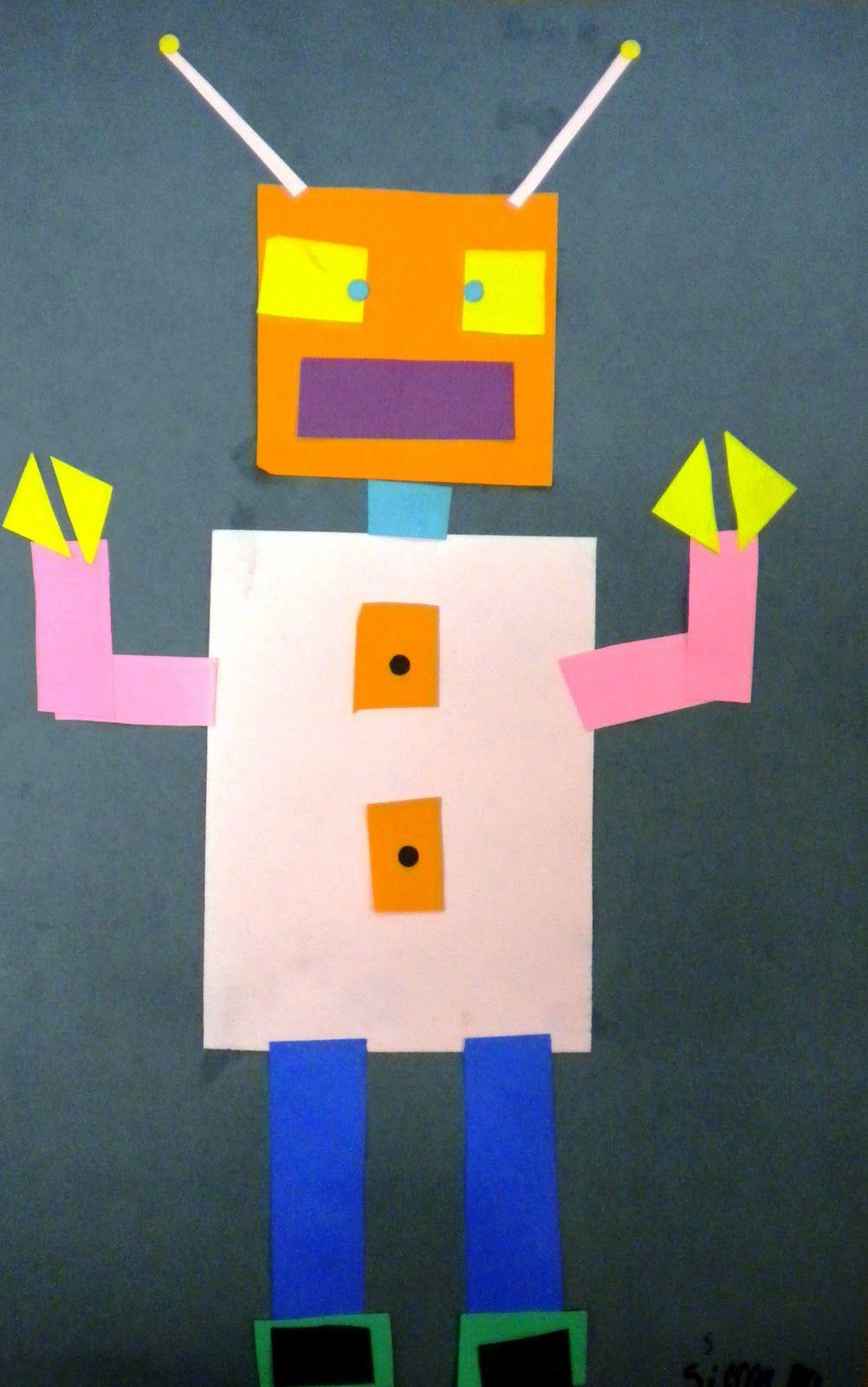 geometric shape robots kindergarten/first grade | School | Pinterest ...